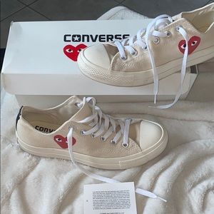 Converse Comme Des Garcons Play Tan sneakers